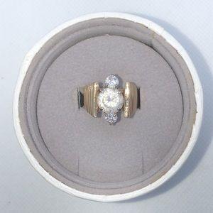 💛 14/10k Yellow Gold Vintage Custom Cocktail Ring